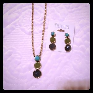 Trifari Necklace and Earring Set